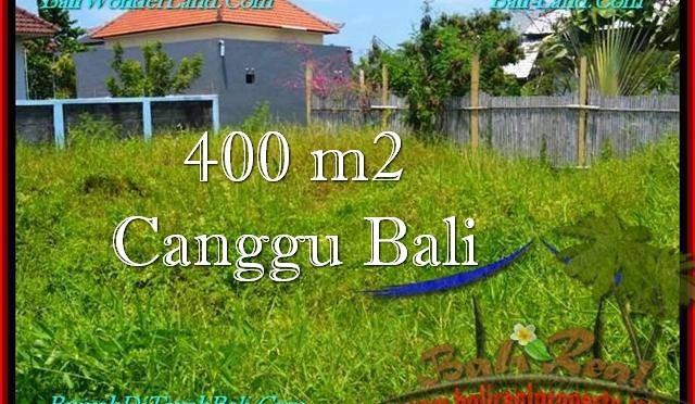 TANAH MURAH di CANGGU JUAL 400 m2 Lingkungan villa