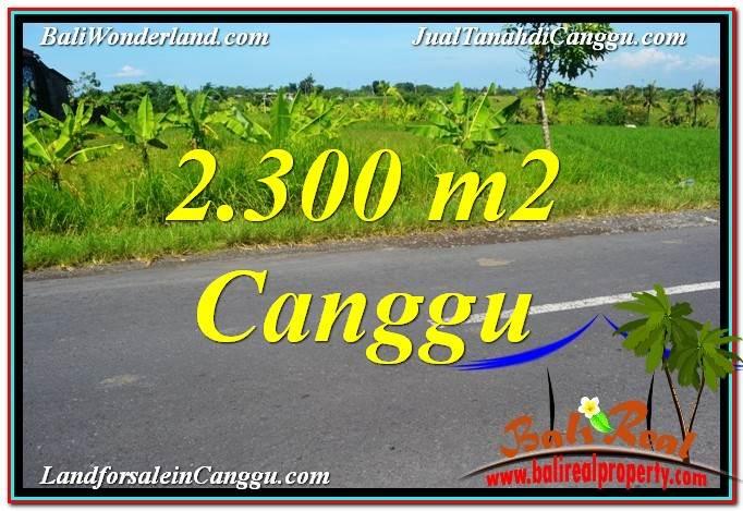 TANAH di CANGGU DIJUAL 2,300 m2 di Canggu Echo Beach